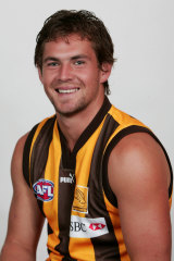 In the beginning: Luke Hodge after signing for Hawthorn in 2005.