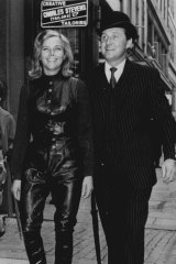 Honor Blackman and Patrick Macnee in the Avengers, circa 1963.