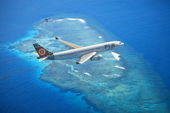 The vaccination message was proposed by team sponsor, Fiji Airways.