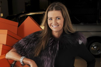 Karin Upton Baker's Hermes Birkin bag and Art Deco diamond bracelet were among the items up for auction.