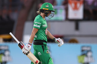 The Stars struggled with the bat, including captain Meg Lanning.