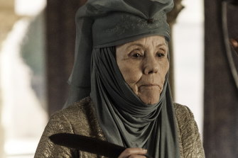 Diana Rigg as Lady Oleanna Tyrell in Game of Thrones.