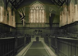 An historical picture of Shore School Chapel.