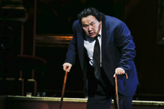Astonishing debut: Amartuvshin Enkhbat in Opera Australia's Rigoletto.