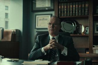 Michael Keaton as Washington lawyer Kenneth Feinberg in Worth.