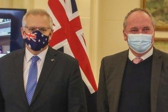 Prime Minister Scott Morrison and Deputy Prime Minister Barnaby Joyce.