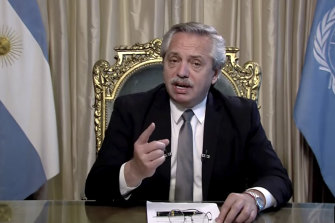 Alberto Fernández, President of Argentina.