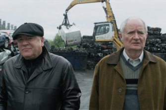 Ray Winstone (left) and Jim Broadbent star in the movie, which is directed by James Marsh.
