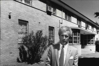Boris Kvok, second secretary of the Soviet embassy, outside the embassy building in Canberra in 1987.