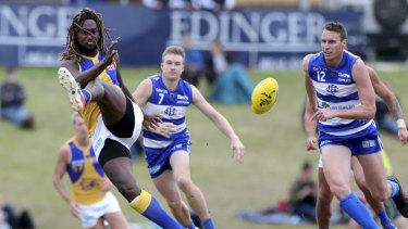 Naitanui tallied nine disposals, 12 hitouts, four tackles, and two marks in the first half for West Coast's WAFL side against East Fremantle.