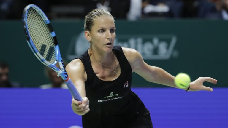 Karolina Pliskova had a good win over Caroline Wozniacki.