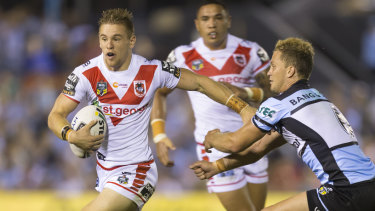Wing man: Dragons fullback Matt Dufty could be moved to the wing in 2019 to make room for Corey Norman.