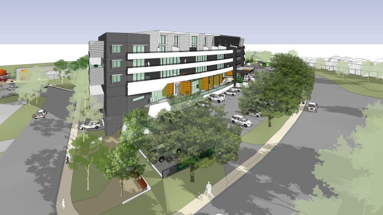 A 3D artist's impression of the proposed Giralang shops development.