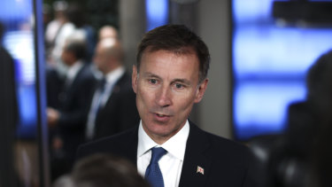 """Unacceptable"": British Foreign Secretary Jeremy Hunt says he wants to resolve the matter diplomatically."
