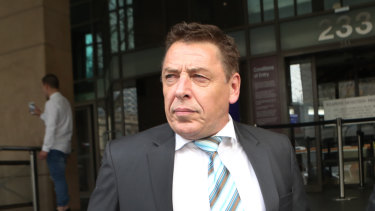 Mark Thompson leaves the Melbourne Magistrate Court on June 28.