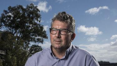 Federal Member for Hinkler Keith Pitt by the Burnett River in Bundaberg.