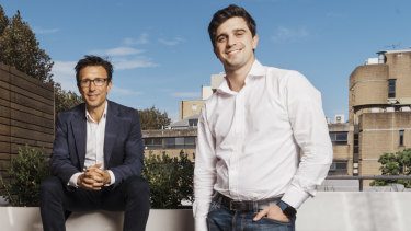 Afterpay co-founders Anthony Eisen (left) and Nick Molnar.