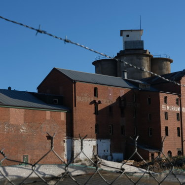 The iconic Murrumbidgee Flour Mill in Wagga is empty for now but the site is being redeveloped, with plans for a pub and commercial precinct.