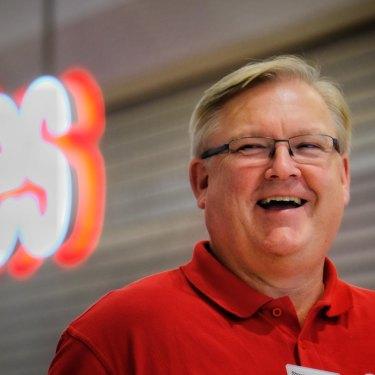 Coles chief executive Steven Cain.