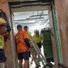 Secret tape reveals building industry angst after positive virus test