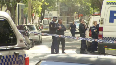"Police are investigating an allegedly ""targeted"" double stabbing in Chippendale on Saturday morning."