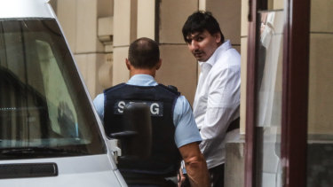 James Gargasoulaspictured outside court on Tuesday.