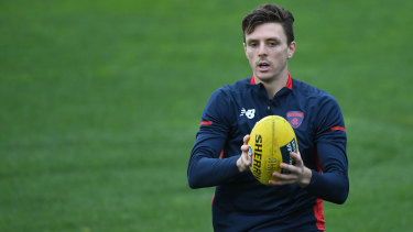 Melbourne's Jake Lever is set to make his return from injury on Sunday when the Demons take on the Western Bulldogs.
