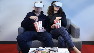 The Oculus Go VR headset lets you share watching TV with somebody else sitting next to you - or on the other side of the planet.