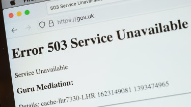 UK government websites were among those affected.
