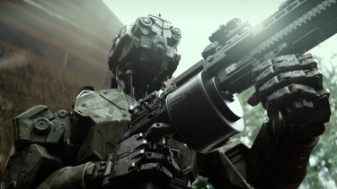 One of the killer military robots in Monsters of Man.