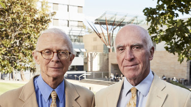 Scientia Professors of Psychiatry Henry Brodaty and Gordon Parker at UNSW.