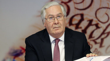 Mervyn King, as governor of the Bank of England, in 2012. He sees a time bomb in the debt countries are taking on as they're facing the fallout from the pandemic.
