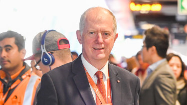 Sydney Trains CEO Howard Collins at Chatswood station on Monday.