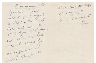 The auction house says Kennedy wrote letters to Gunilla von Post in 1955 and 1956. The letters are from her estate.
