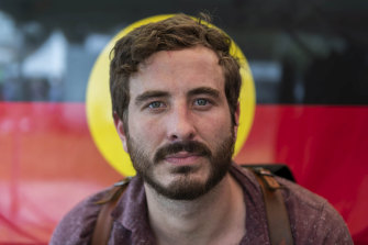 Actor Ryan Corr at Yabun festival at Victoria Park.