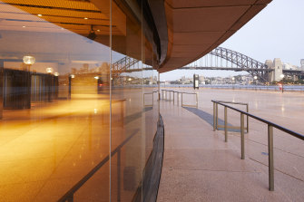 Commissioned by the Sydney Opera House Trust, the work on the Yallamundi Rooms was the first of a number of projects.