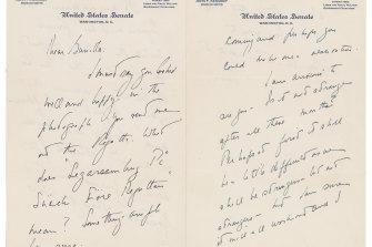 A love letter that John F. Kennedy wrote to Gunilla von Post.