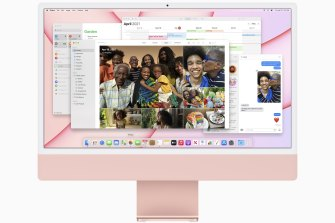 The new design works well with the colourful MacOS.