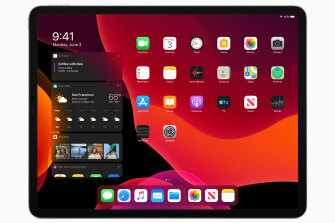 iPadOS gives the tablet a look and feel distinct from the iPhone.