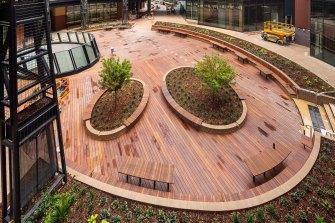 Melbourne Connect's oculus garden.