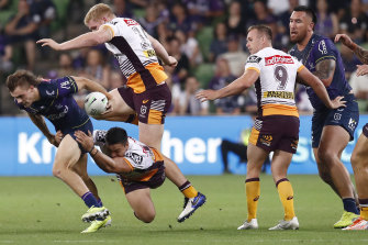 Ryan Papenhuyzen starred with four tries for the Storm in their win over the Broncos.