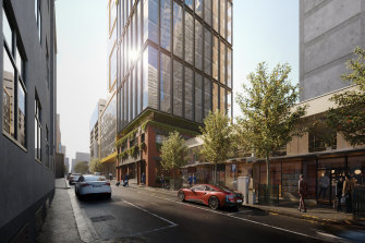 The new Bastion tower at 563 Little Lonsdale Street will have 24 levels of whole floor offices.