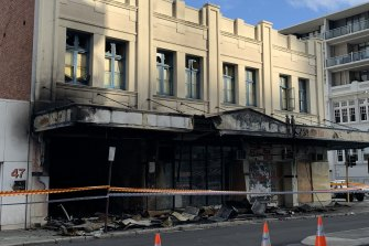 This empty building in Perth's CBD was gutted by fire in the early hours of Monday morning.