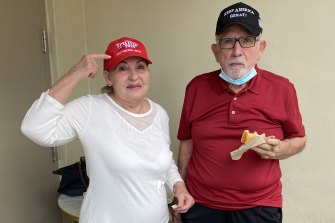 Rosa Camilo and Jose Pubchara in Miami.