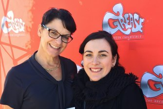 Newcastle Entertainment Centre Events Manager Natalie Reed with TAFE graduate Gemma Evans.