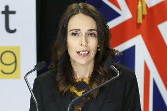 Prime Minister Jacinda Ardern speaks to media at a press conference ahead of a nationwide lockdown on Wednesday.