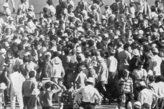 Somewhere in the crowd is Ian Chappell after making his 100.