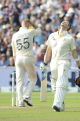 Smith improvised some odd-looking slogs as he batted with the tail.