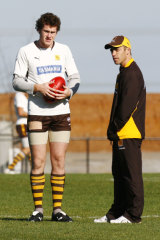 Roughead with Alastair Clarkson at training in 2007.