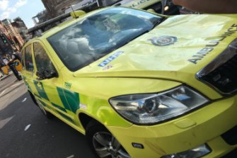 Emergency service: An ambulance is in for repairs after it was damaged by England fans celebrating.